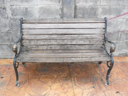 Old wooden chair photo