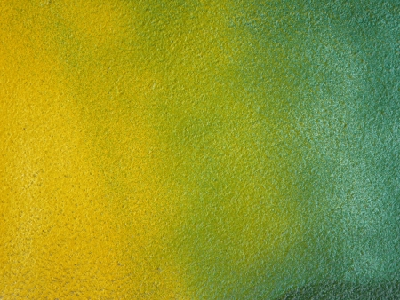 Green and yellow color on the walls photo