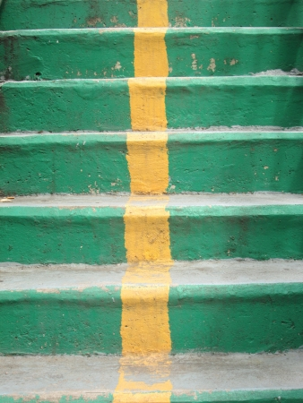 Overpass stairs green photo