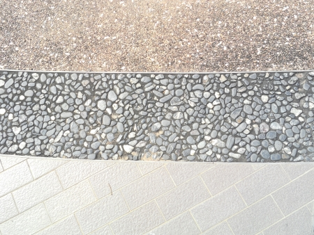 Decorative stone pathway photo