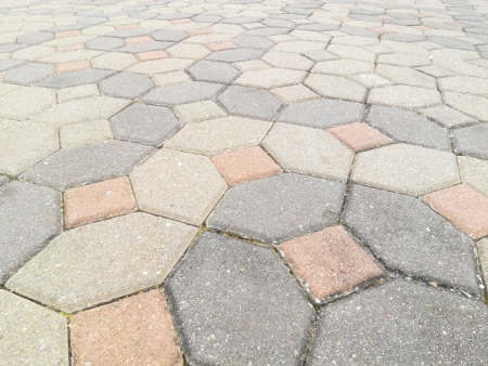 pavement Background of grey cobble stones photo