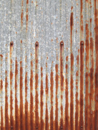 Zinc rust wall background