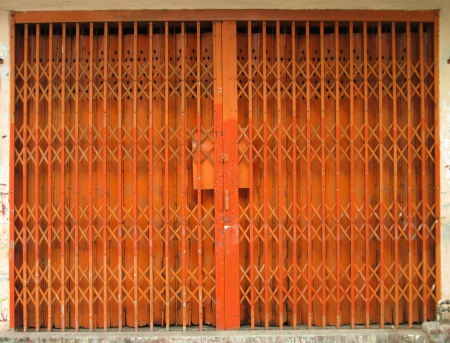 orange iron door security in asia home photo