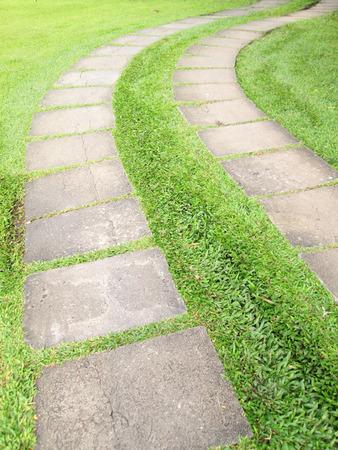 A flagstone walkway photo