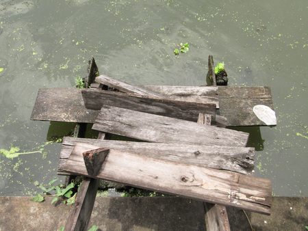collapsed: Wooden stairs collapsed