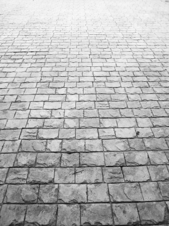 Pavement surface with light gray stone Stock Photo