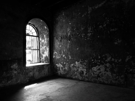 cellule de prison: La lumière provenant de