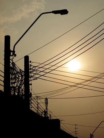 Lamp post at sunset Stock Photo - 26131447