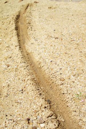 Roy wheel motorcycle ordinary sand Stock Photo