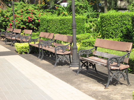 path cottage garden: Chairs for relaxing in the Nature Park