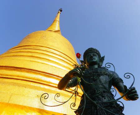 Golden pagoda Wat Saket  Golden Mount  in Bangkok,Thailand photo