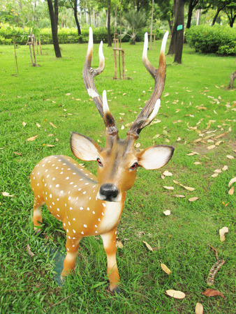 Deer in the garden statues photo