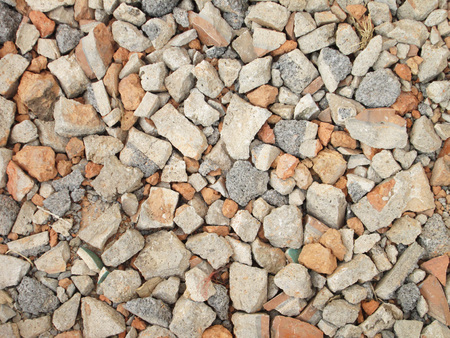 close up on pile of gravel photo