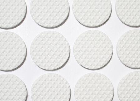 White circles rubber photo