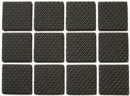 Closeup of rubber mat texture photo