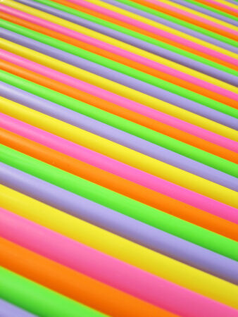 Drinking straw colorful abstract background photo