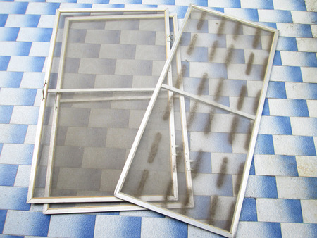 ammonium: old dirty mosquito wire screen