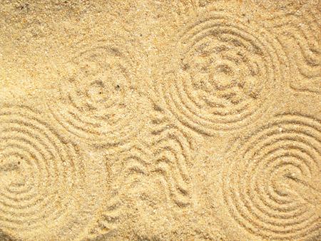 Una circular de arena en forma de remolino de fondo textura resumen Foto de archivo - 38870488