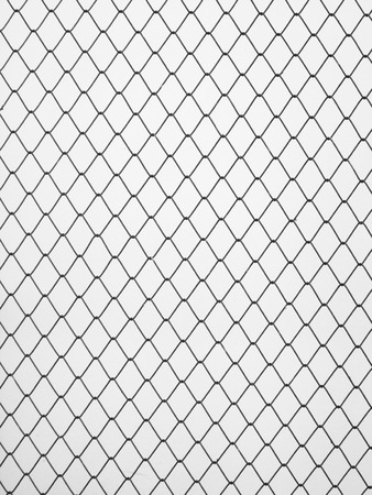 chained link fence: Decorative wire mesh Stock Photo