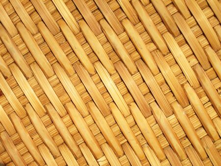 handcraft: Pattern and design of Thai style bamboo handcraft Stock Photo