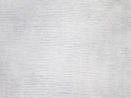 Close up of white woven fabric structure