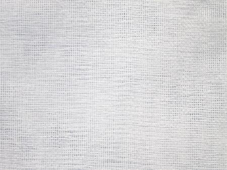 Close-up van witte geweven stof structuur
