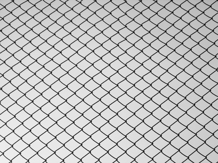 chainlink fence: Decorative wire mesh Stock Photo