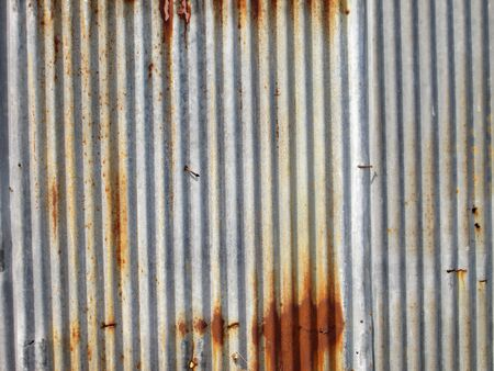 corrugated iron: A rusty corrugated iron metal texture