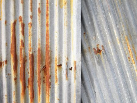 corrugated steel: A rusty corrugated iron metal texture