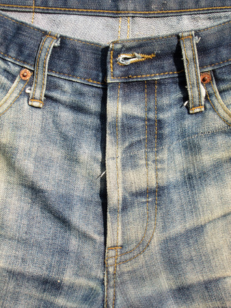 trouser: old Blue jeans trouser Stock Photo