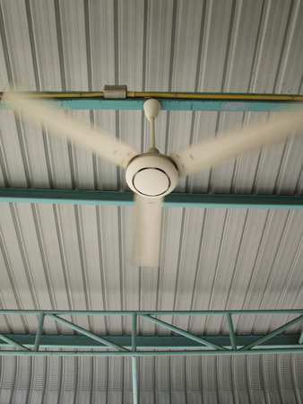 fan ceiling: ceiling Fan on metal roof