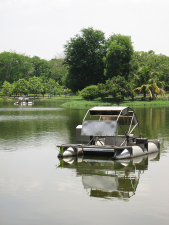 water mill: water mill in park lake