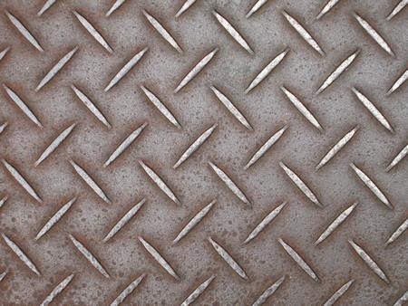 diamondplate: Background of metal diamond plate in brown silver color