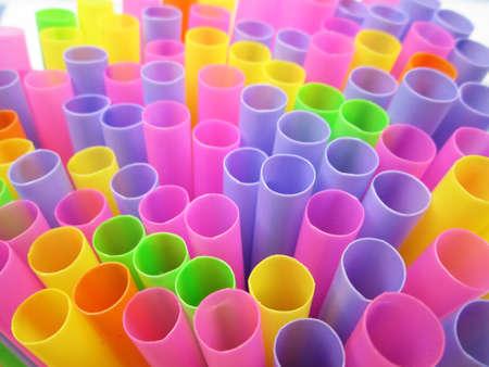 straws: Colorful drinking straws background Stock Photo