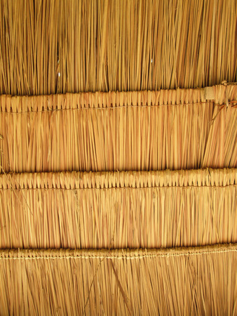palapa: Texture of hay stack roof in Thailand Stock Photo