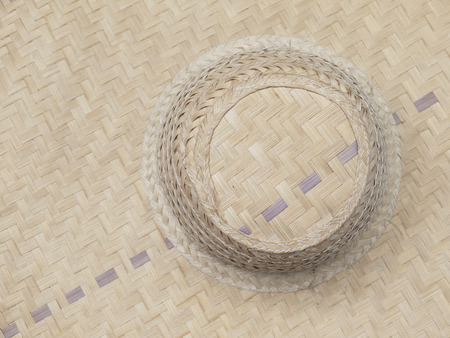 woven: old woven bamboo hat pattern