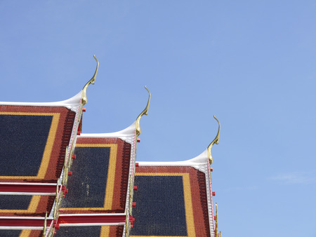 gable: Roof gable in Thai temple style