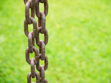 unbroken: Closeup old steel chain
