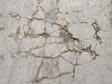 heterogeneous: cracked asphalt background Stock Photo