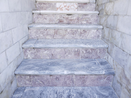 fluting: Old stair in the temple Stock Photo