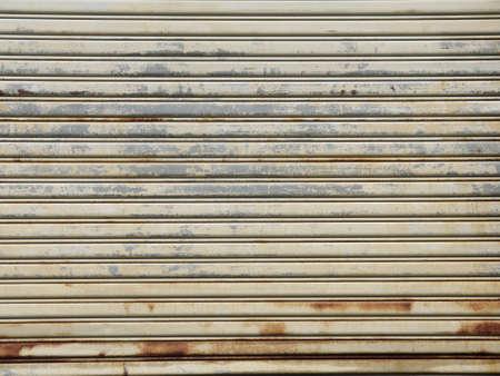 corrugation: Old door rusty Stock Photo