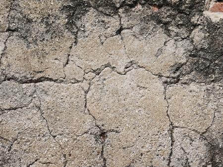 cracked concrete: crack on cement texture Stock Photo