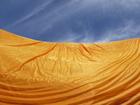 monk robe: crumpled yellow monk robe