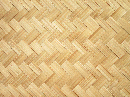 close up woven bamboo pattern Stockfoto