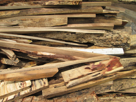 workable: Pile of wood Stock Photo