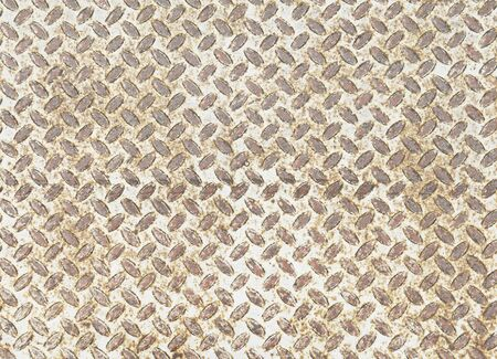 diamondplate: Background of metal diamond plate in grungy color Stock Photo