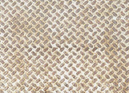 diamondplate: Background of metal diamond plate in grungy color Stock Photo