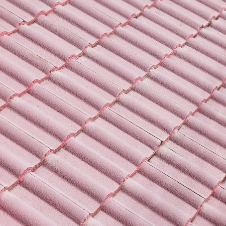 roof texture: Pink tile roof texture background Stock Photo