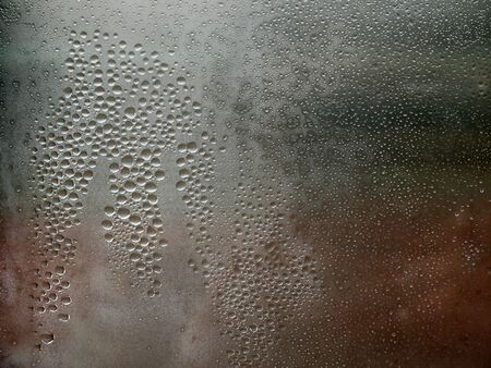 condensate: natural water drop on the glass