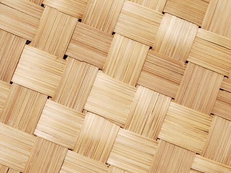 basketry: Thai-style bamboo basketry wooden texture Stock Photo